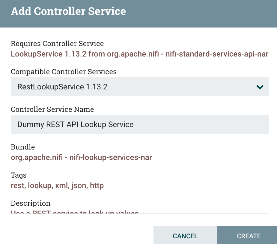 Adding a REST Lookup Service